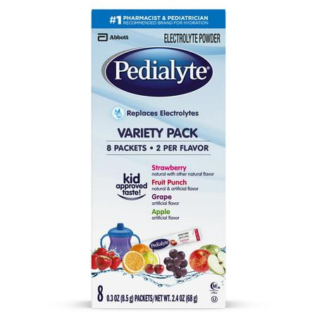 Pedialyte Electrolyte Powder, Electrolyte Drink, Variety Pack, Powder Sticks, 0.3 oz (Pack of