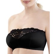 Glamorise Womens Complete Comfort Stay-In-Place Strapless Wire-Free Bra Style-1800