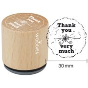 """Woodies Mounted Rubber Stamp 1.35""""-Thank You Very Much"""