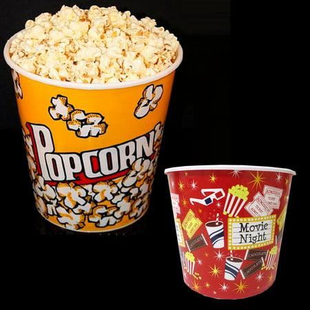 Retro Style Reusable Popcorn Bowl Plastic Container Movie Theater Bucket 8