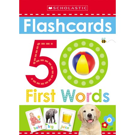 Flashcards: 50 First Words (Scholastic Early (Best Pharmacology Flash Cards Step 1)