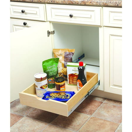 5 in. H x 18 in. W x 22 in. D Soft-Close Wood Drawer Box Pull Out Cabinet Organizer