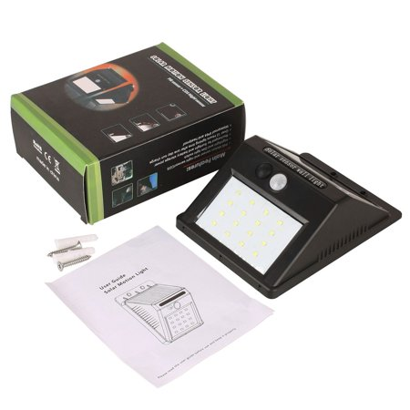 3Pcs LED Solar Light PIR CDS Motion Sensor Lamp 16 LEDs 80lm Waterproof Wireless - image 6 of 8