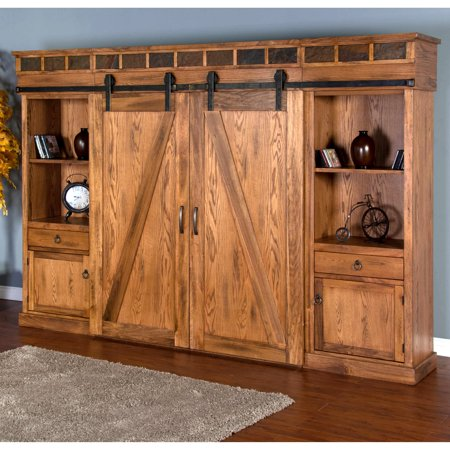 Sunny Designs Sedona Barn Door Entertainment Wall