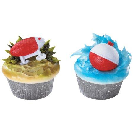 Fishing Lure and Bobber Cupcake Ring - 24 - Fishing Cake