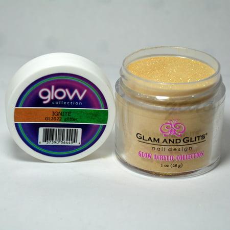 Glam and Glits GLOW ACRYLIC Glow in the Dark Nail Powder 2022 - IGNITE