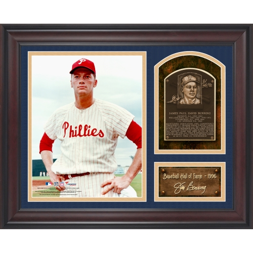 "Jim Bunning Philadelphia Phillies Fanatics Authentic Framed 15"" x 17"" Baseball Hall of Fame Collage with Facsimile Signature - No Size"