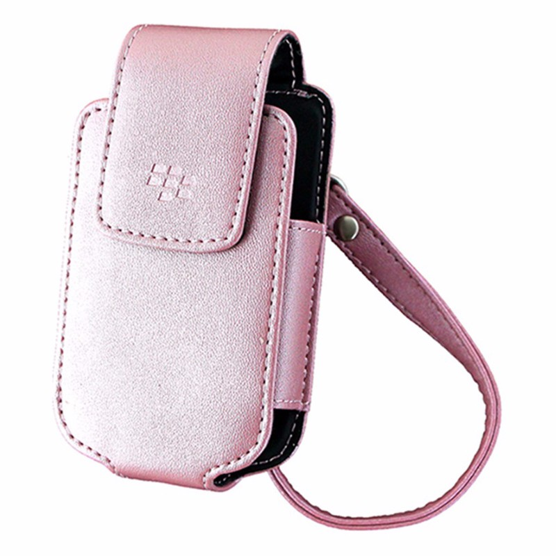 BlackBerry Leather Pouch with Strap for BlackBerry Pearl Flip 8220 - Pink
