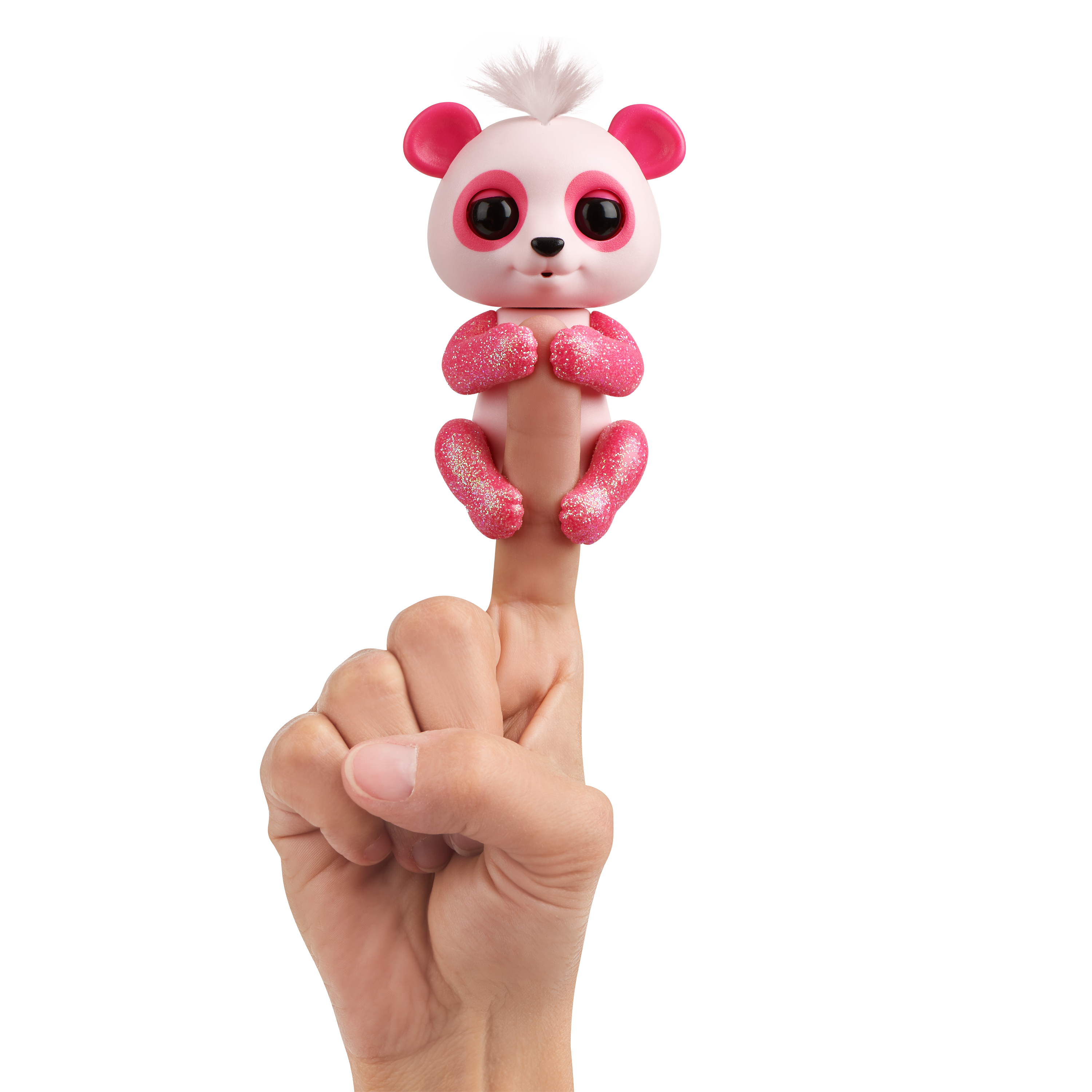 Fingerlings Glitter Panda - Polly (Pink) - Interactive Collectible Baby Pet - By WowWee