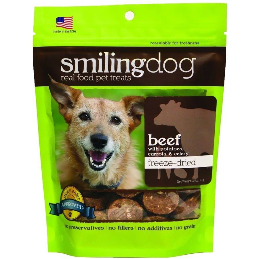 Herbsmith Smiling Dog Freeze-Dried Treats, Beef with Potatoes, Carrots and Celery
