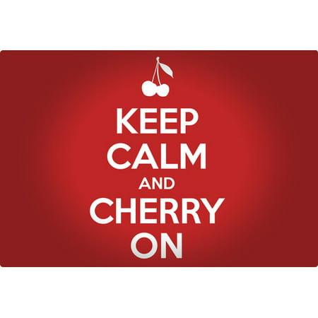 Magic Slice Keep Calm And Cherry On Non-Slip Flexible Cutting Board