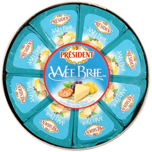 President: Pasteurized  Process Cheese Spread Wee Brie, 8 Oz