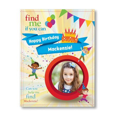 Find Me If You Can Birthday Edition (1 Child) - Personalized Book - Personalized First Birthday Book
