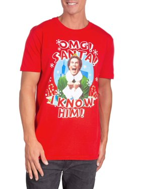 Product Image Elf I Know Santa Men S Short Sleeve Graphic Tee Up To Size 2xl