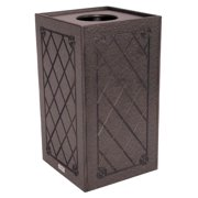 Eco-friendly Trash Receptacle with Pull Top (Brown)