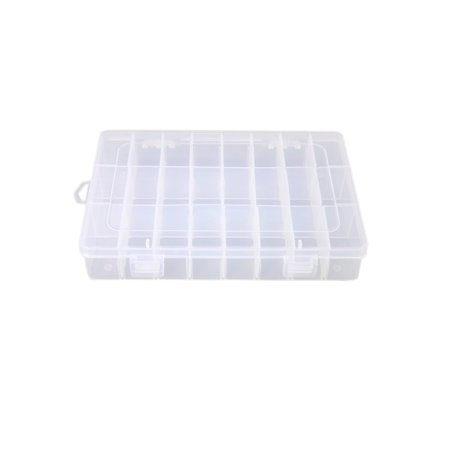 24 Slots Jewelry Dividers Box Organizer Adjustable Clear Plastic Bead Case Pill Storage Container Jewelry Pill Box
