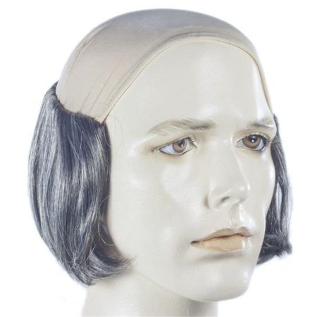 Lacey Wigs LW683DKBNGY Bald Short Tramp Wig, No. 56 Dark Brown & Gray