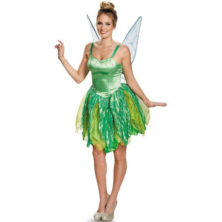 Disney Fairies Tinker Bell Prestige Women's Plus Size Adult Halloween Costume, XL (Costume Tinkerbell)