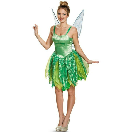 Disney Fairies Tinker Bell Prestige Women's Plus Size Adult Halloween Costume, XL - Plus Size Green Fairy Costume