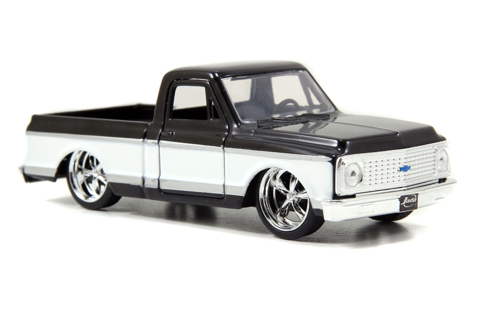 1972 Chevy Cheyenne Pickup Truck, Black Jada Toys Just Trucks 97009 1 32 scale Diecast... by Jada
