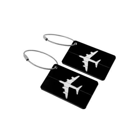 Unique Bargains Travel Aluminum Luggage Tags Holders For Baggage Suitcases, 2/7 Pack