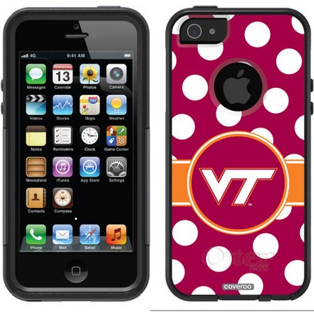 Virginia Tech Polka Dots Design On Otterbox Commuter Series Case For Apple Iphone 5 5S