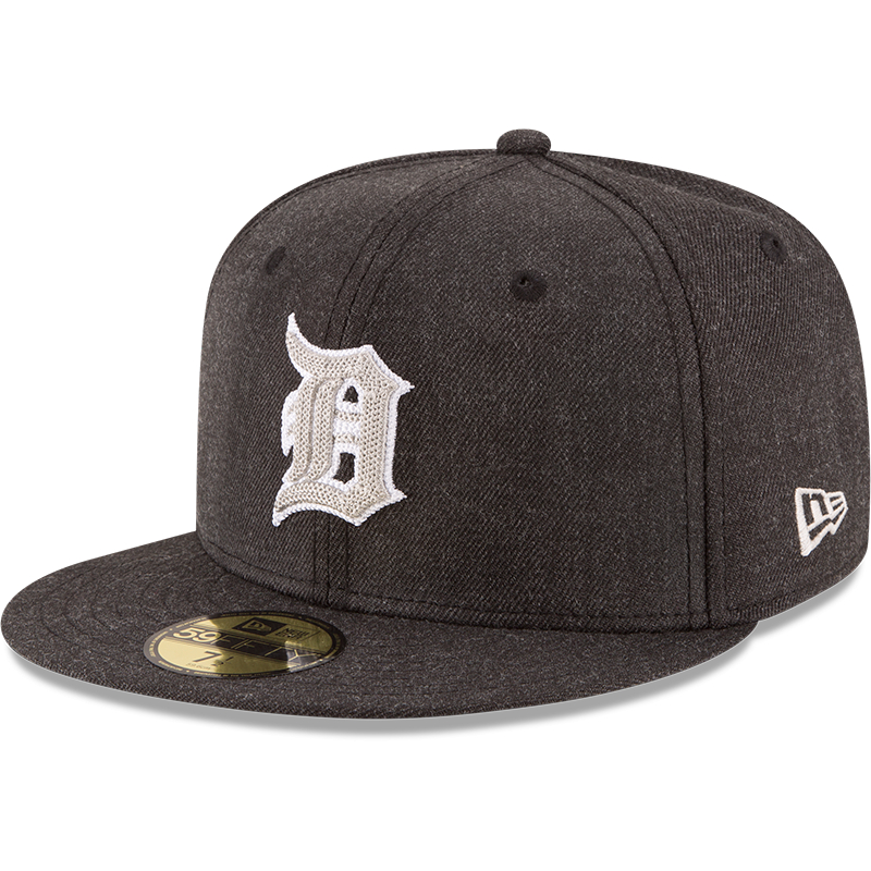Detroit Tigers New Era Crisp 59FIFTY Fitted Hat - Heathered Black
