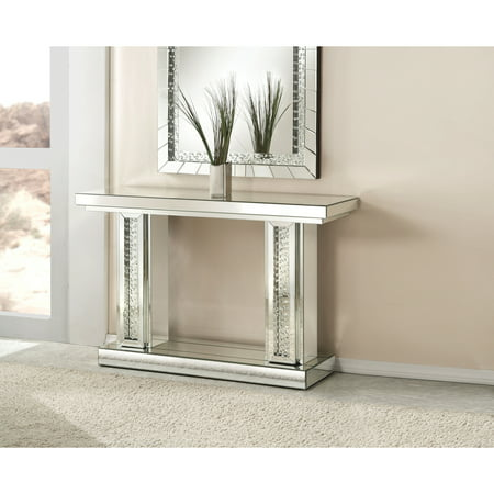 Acme Furniture Nysse Console Table, Mirrored