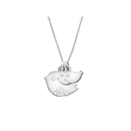 Custom Mom and Two Baby Birds Silver Necklace](Custom M&m)