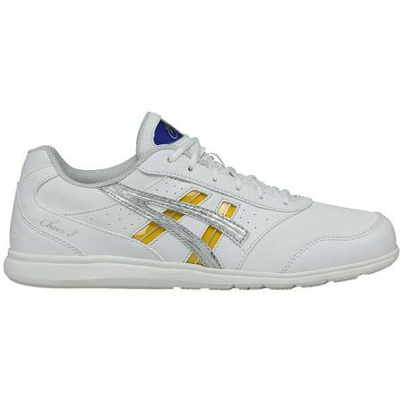 ASICS Women's Cheer 8 Cheerleading Shoes (White/Silver, 10.5)