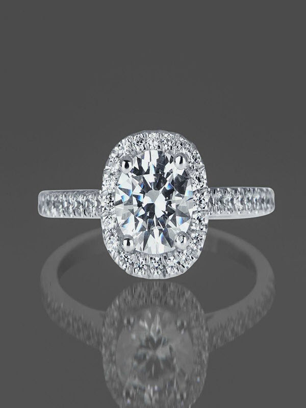 Limited Time Sale 1 Carat Diamond Engagement Ring in 10k White Gold on Sale Under 300