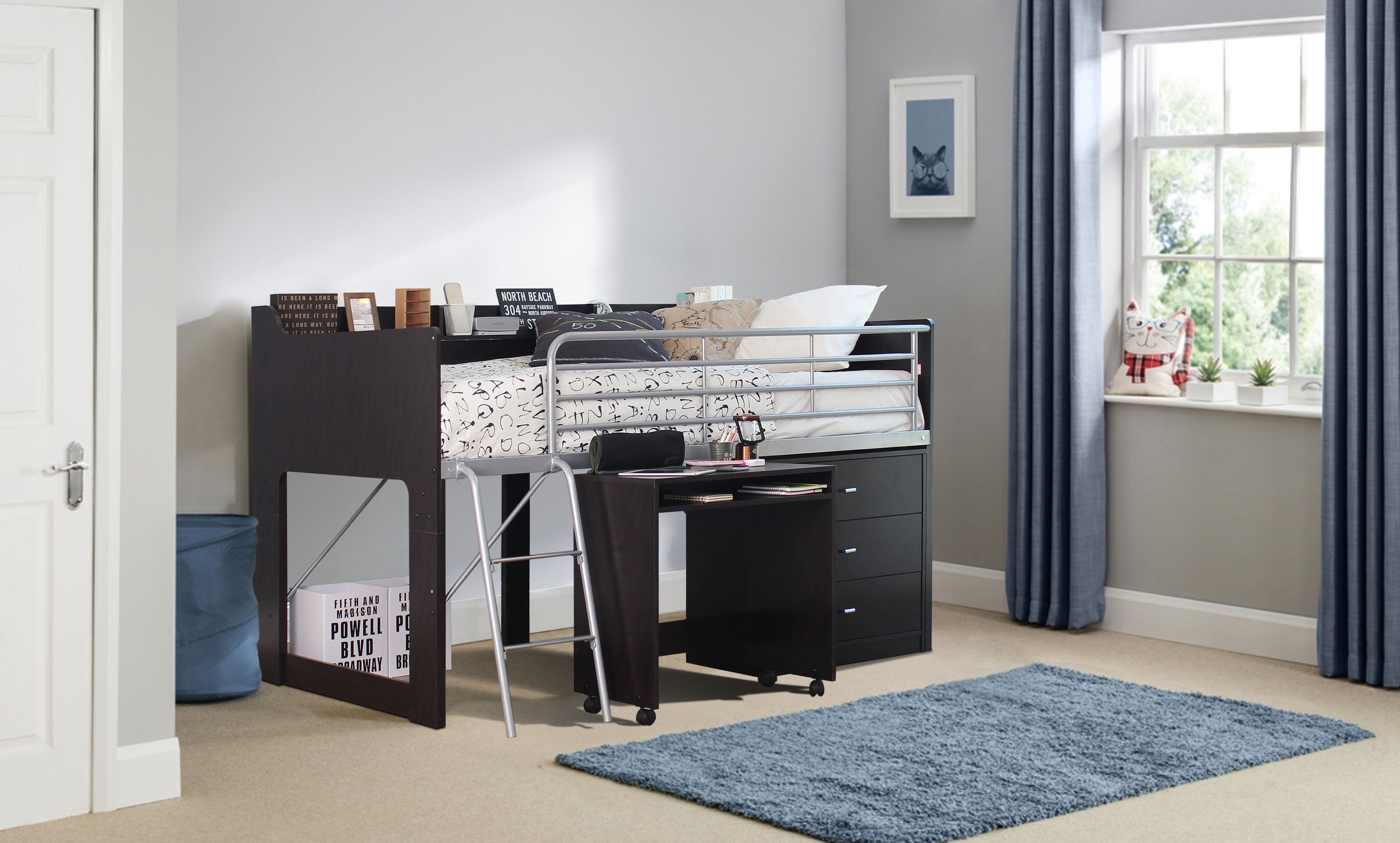 Delicieux Talia Storage Loft Bed With A Desk, Multiple Colors