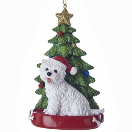 West Highland Terrier with Tree - West Highland White Terrier Ornament