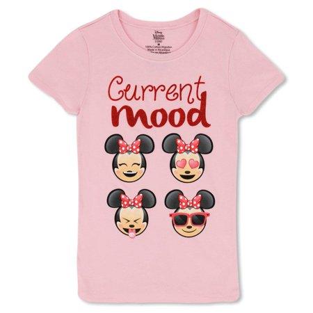 1939b9fe869c Minnie Mouse Girls T-Shirt - Cute Disney Shirts for Girls Kids (Light Pink  Red Glitter, Small) - Walmart.com