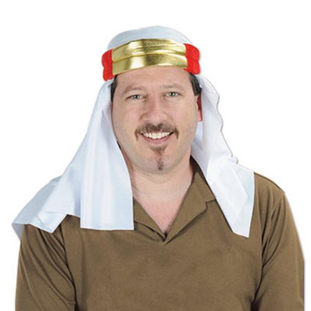 Pack of 12 Satin International Sheik Novelty Party Hats - One Size Fits Most