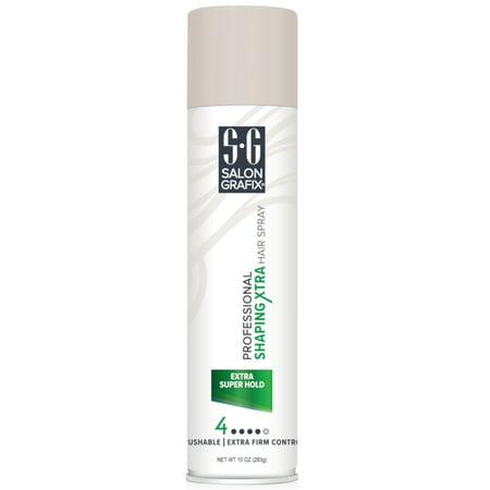 Salon Grafix? Professional Extra Super Hold Shaping Hair Spray 10 oz. Aerosol Can