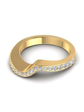 0.45CT Round Cut Diamonds Wedding Band