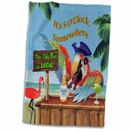 Parrot Tower (3dRose Pirate Parrot in Paradise - Towel, 15 by 22-inch )