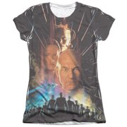 Star Trek Fist Contact Poster (Front Back Print) Juniors Sublimation Shirt