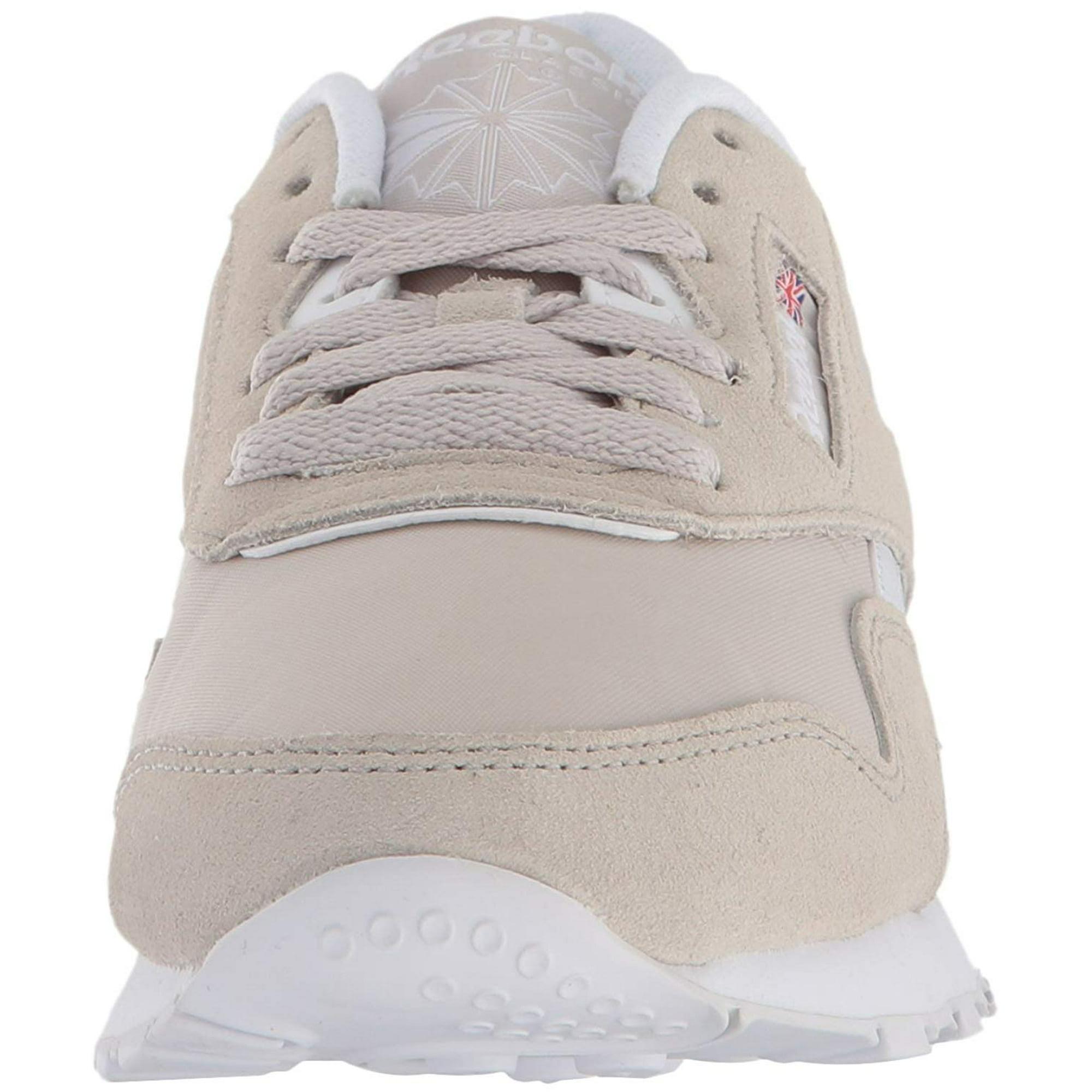 d831e75414ee5 Reebok Women s Cl Nylon Neutrals Sandstone   White Ankle-High Fashion  Sneaker - 8M