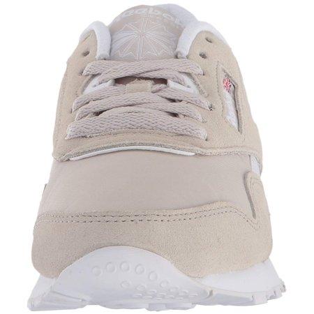 Reebok Women s Cl Nylon Neutrals Sandstone   White Ankle-High Fashion  Sneaker - 6M ... b8bd7e287