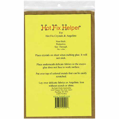 "Bo-Nash Hot Fix Helper Fiberglass Ironing Sheet, 9"" x 6"""