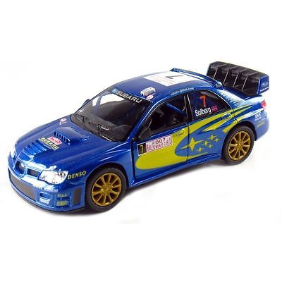"5"" Kinsmart 2007 Subaru Impreza WRC Diecast 1:36 Model Toy Car Rallye Monte Carlo Rally NEW"