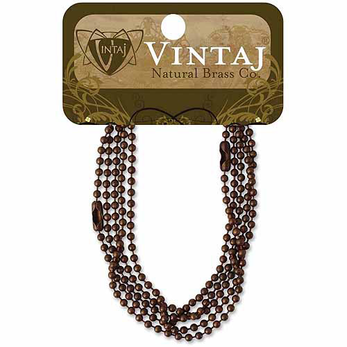 "Vintaj Metal Chains, 18"", 2pk, Ball Chain"