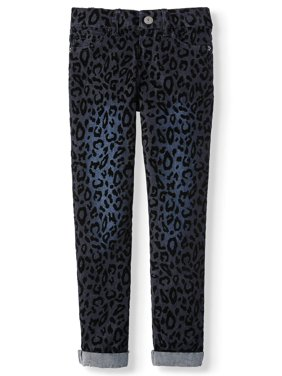 p.s.09 from aeropostale Flocked Animal Print Skinny Boyfriend Jean (Little Girls & Big Girls)