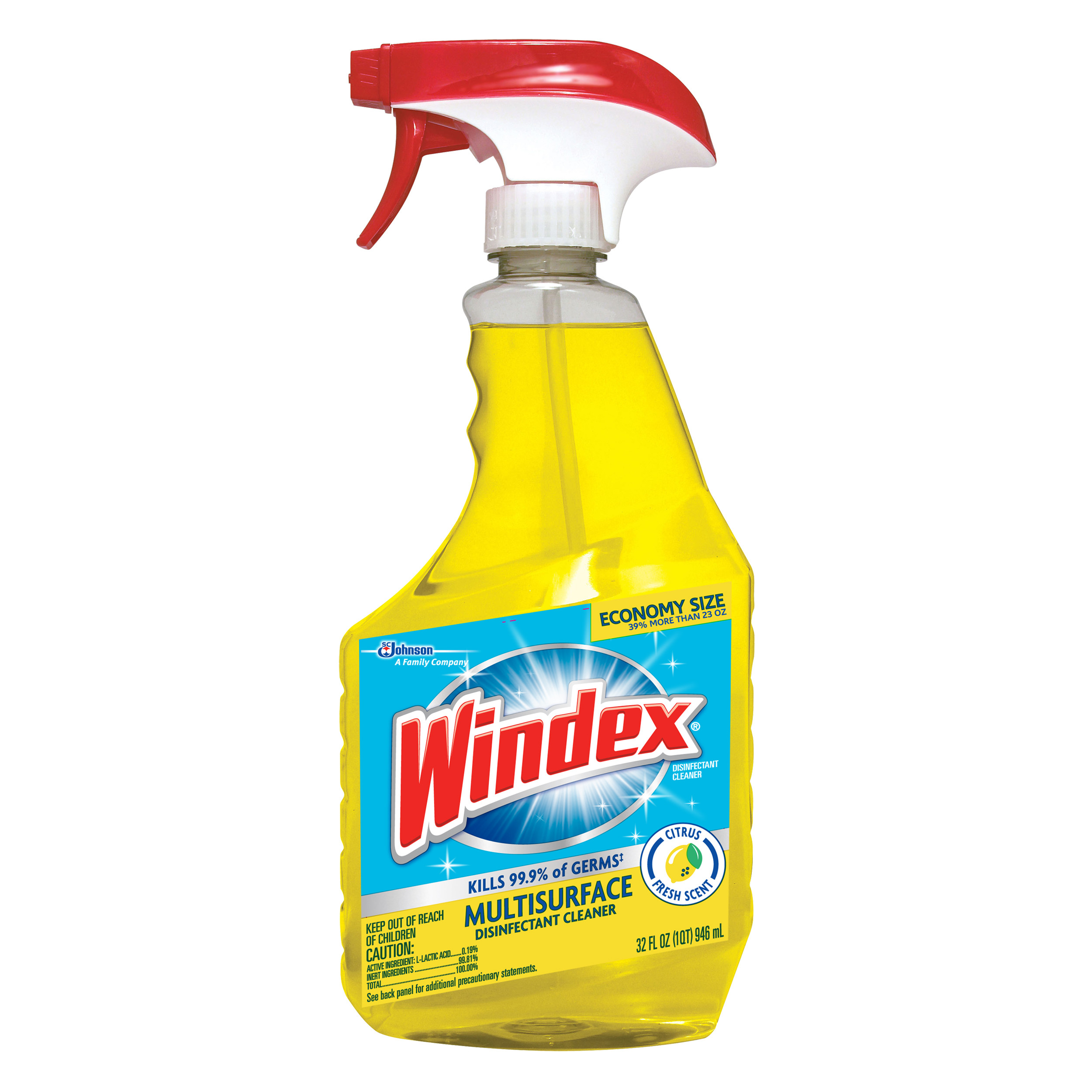 Windex Disinfectant Cleaner Multi-Surface Trigger 32 Fluid Ounces