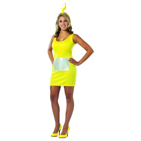 Teletubbies Laa-Laa Yellow Tank Mini Dress Costume Adult One Size Fits Most - Teletubbies Adult Costume