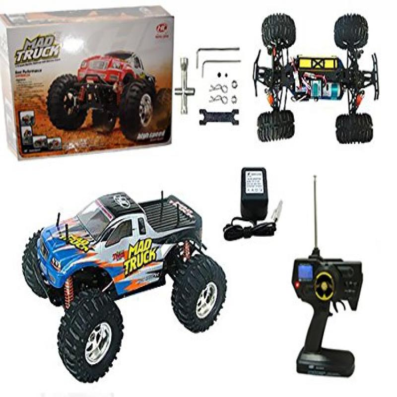 Azimporter Preschool Children Activity Playset 1:10 RC Electric 4WD Mad Truck Blue by