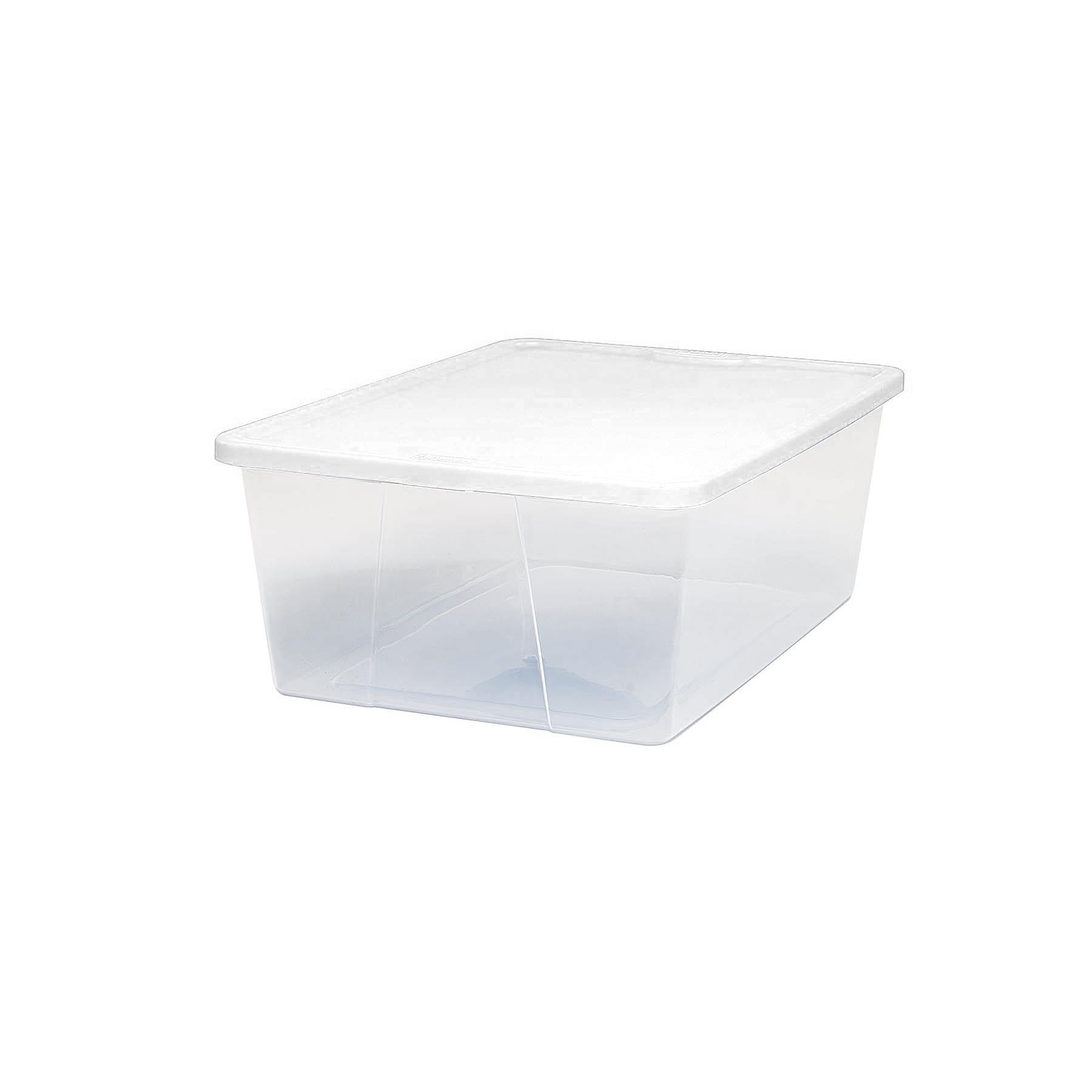 Homz Snaplock® 12 Quart Clear Storage Container, Set of 8