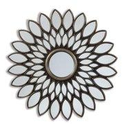 innova selections by chaumont 40 inch bronze sunflower decorative mirror - Decorative Mirror